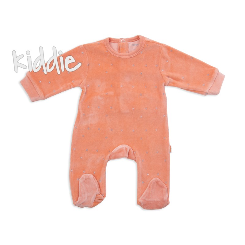 Бебешки плюшен гащеризон Babybol за момиче