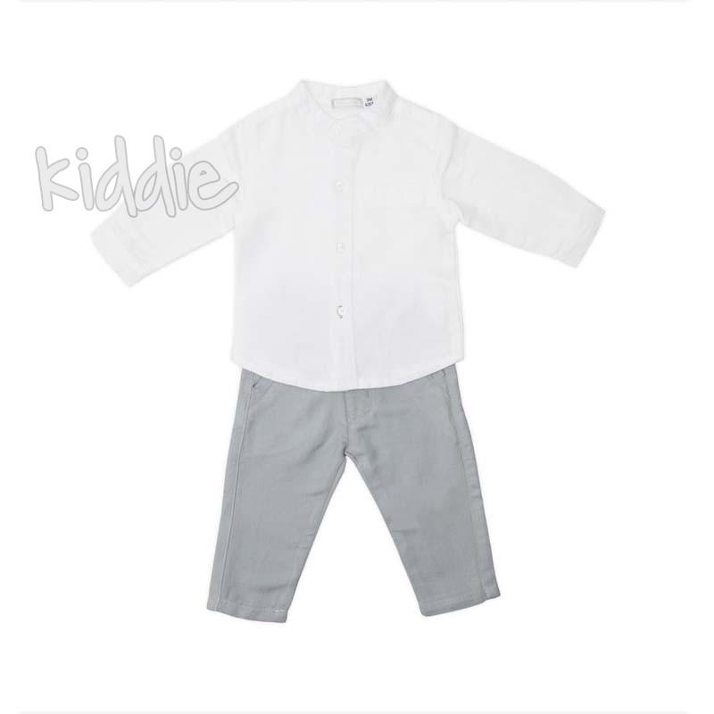 Ленен бебешки комплект за момче Babybol