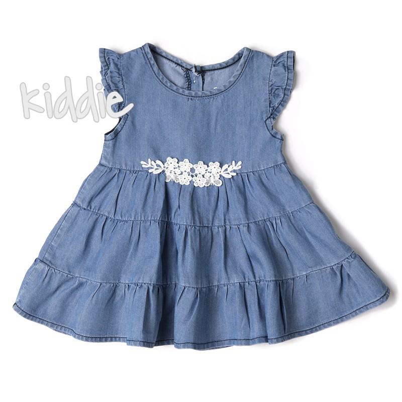 Бебешка рокля Babybol с флорална дантела