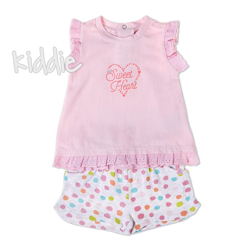 Бебешки комплект Babybol Sweet heart за момиче