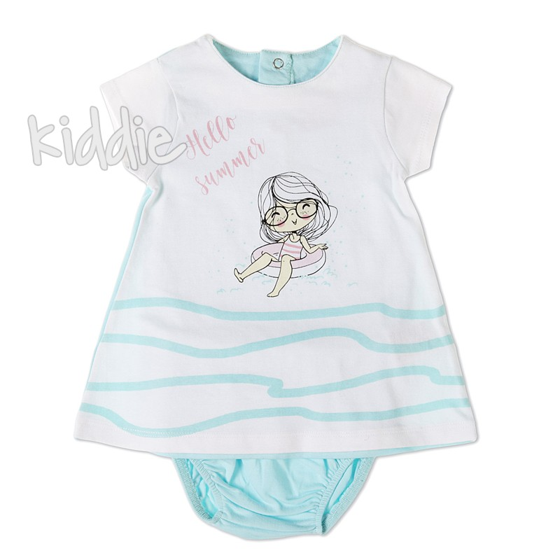 Бебешка рокля Babybol Hello summer с памперс гащета