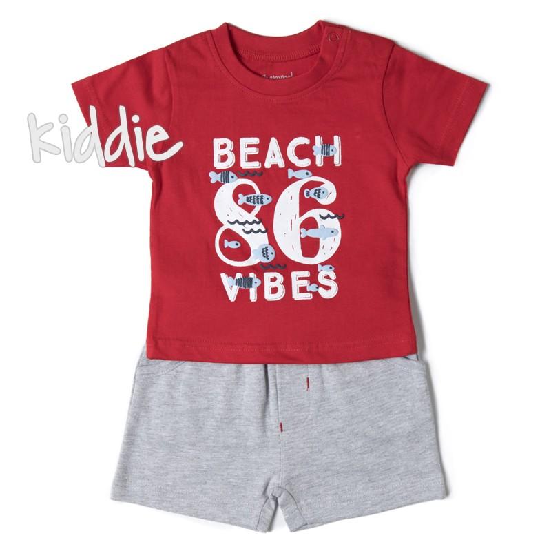 Бебешки комплект Babybol Beach vibes за момче