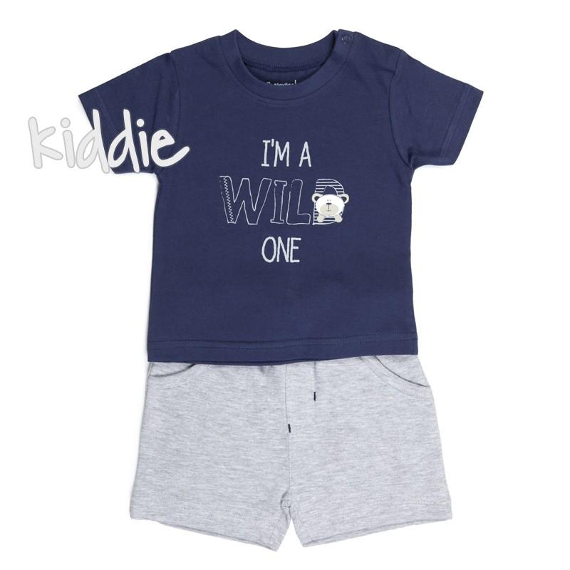 Бебешки комплект Babybol Wild one за момче