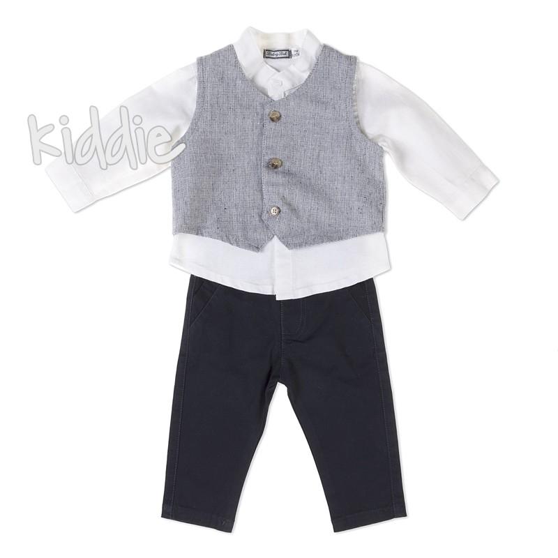 Бебешки комплект с елек Babybol за момче
