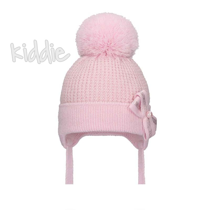 Бебешка шапка Bixie с панделка за момиче