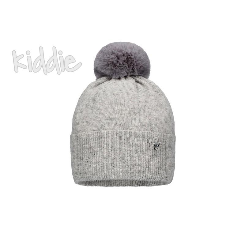 Детска шапка Bixie с помпон за момиче