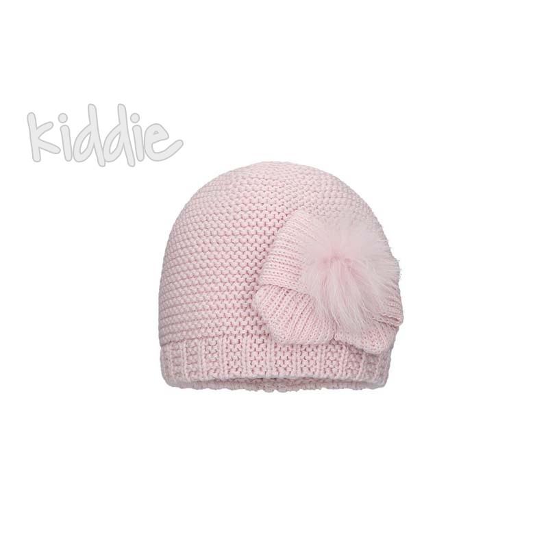 Детска шапка Bixie с пух за момиче