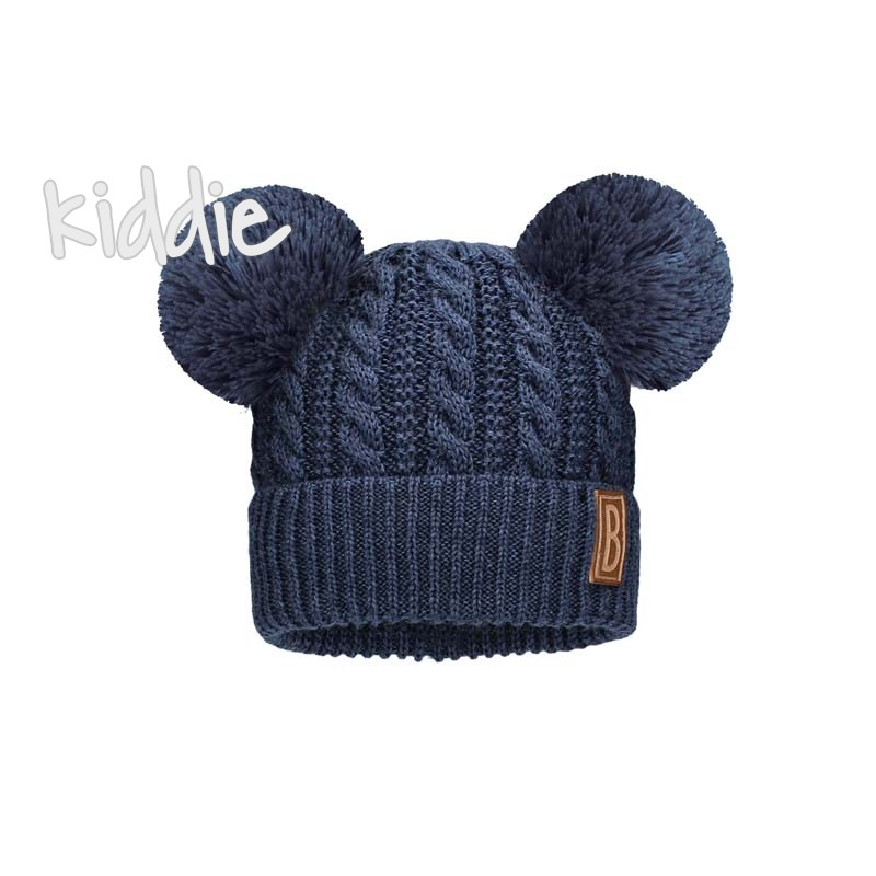 Детска шапка Bixie с два помпона за момче