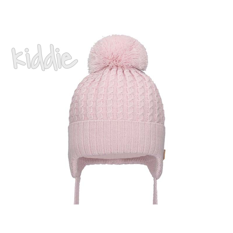 Детска шапка Bixie с пухкав помпон за момиче