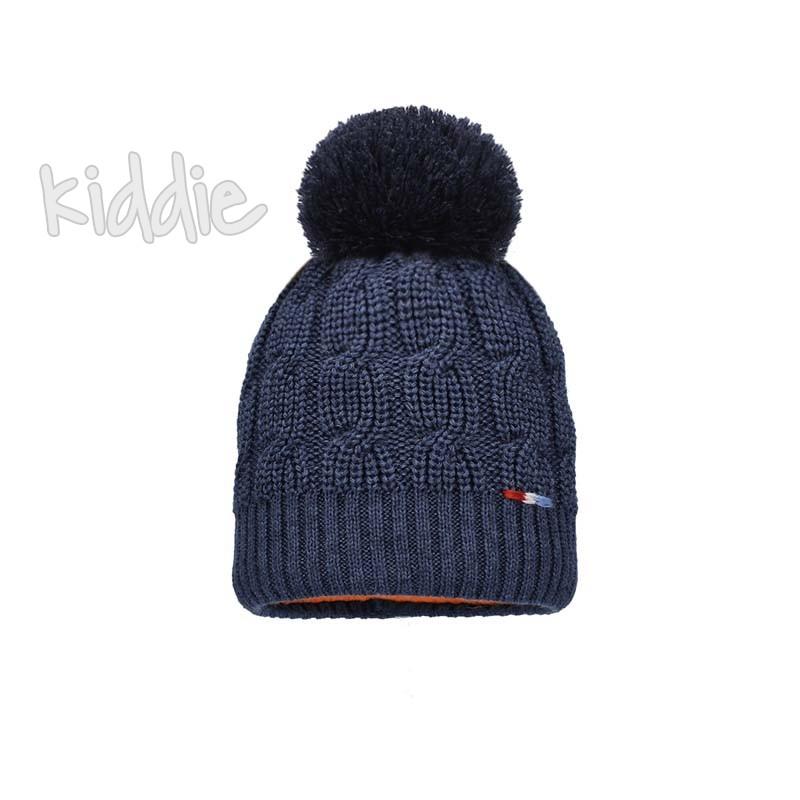 Детска шапка Bixie с красив помпон за момче