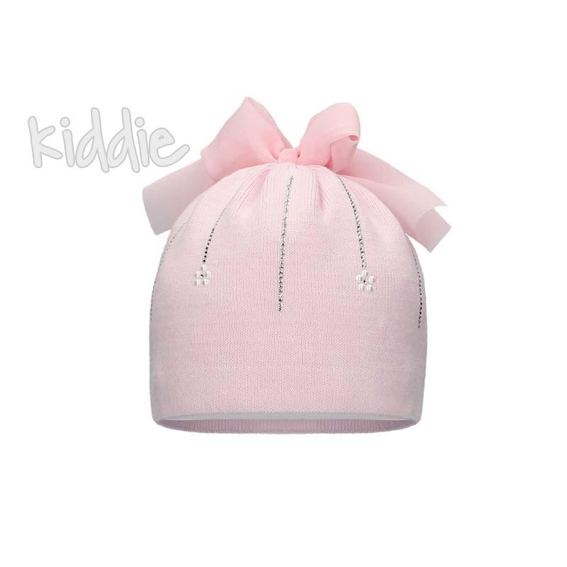 Бебешка шапка Bixie за момиче с панделка