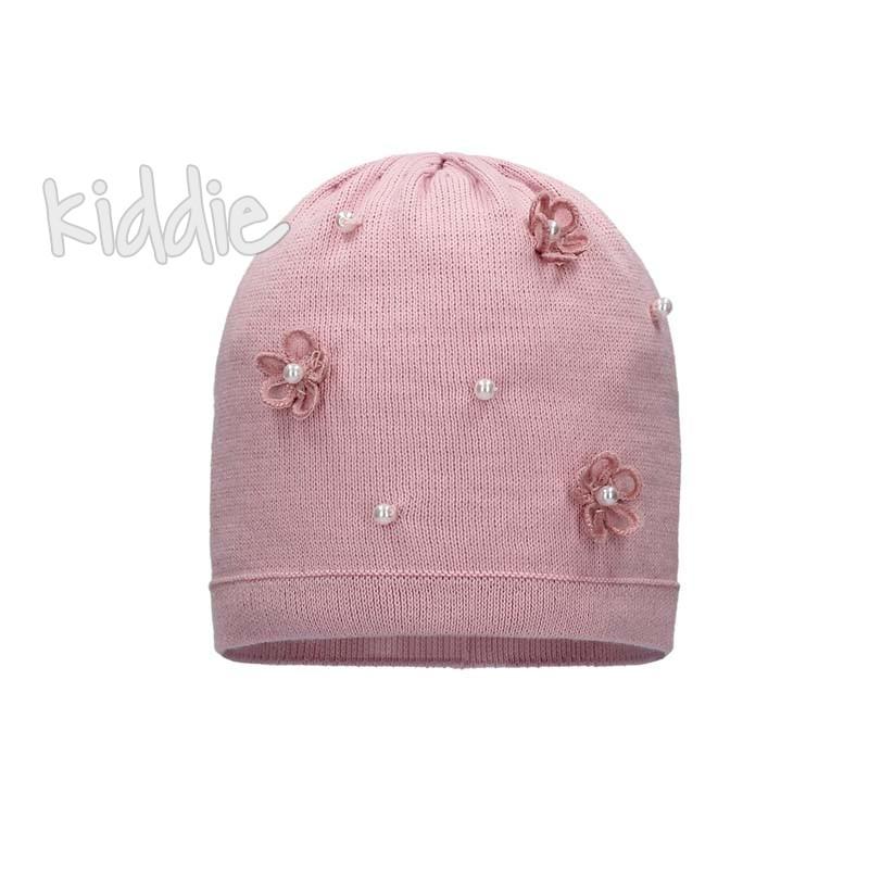 Детска шапка Bixie за момиче с цветя