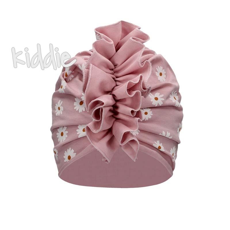 Детска ефектна шапка Bixie за момиче с маргаритки