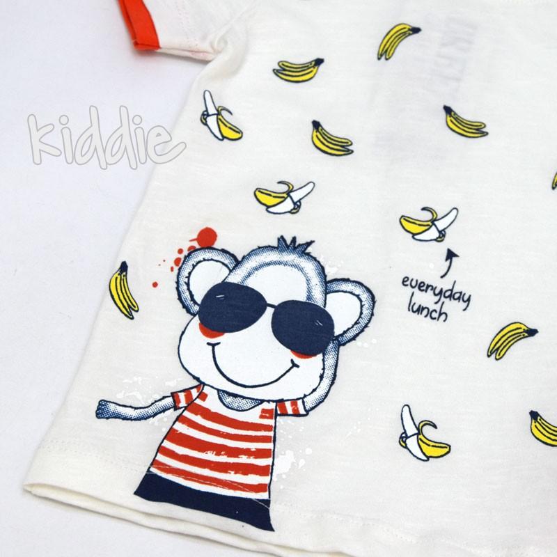Бебешки комплект Маймуна и банани Breeze за момче