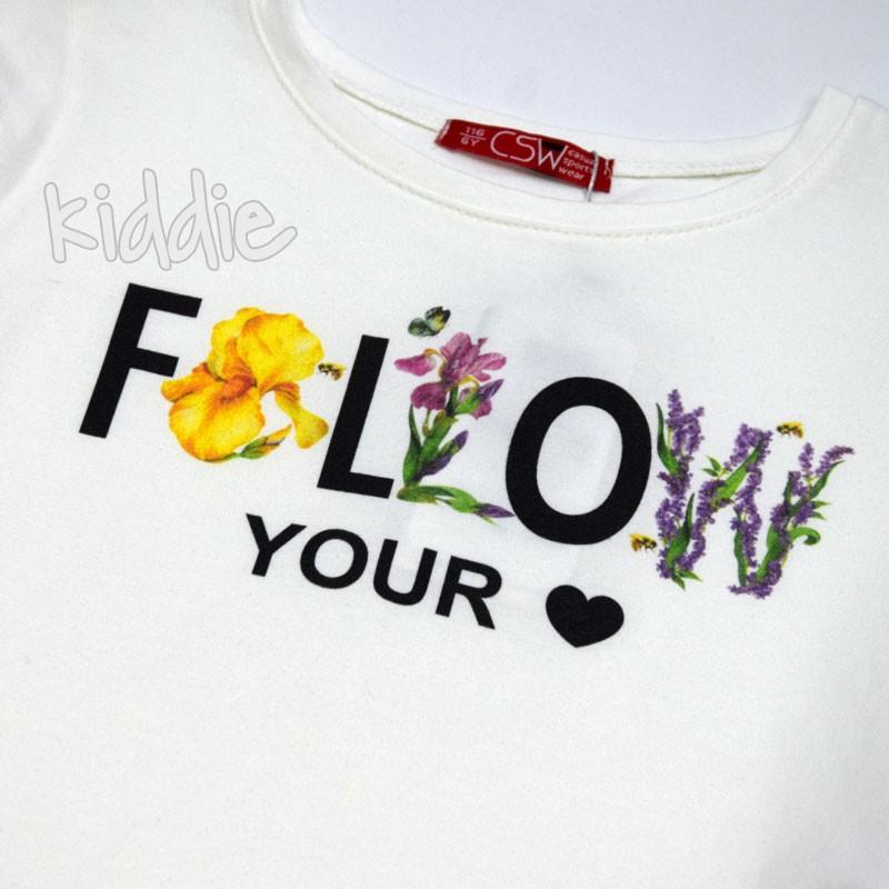 Детски комплект Follow Your Heart CSW за момиче