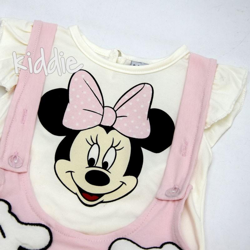 Бебешки сукман с тениска Мини Маус Baby Wood