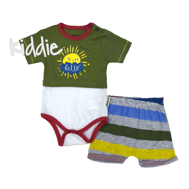 Бебешко боди с къси панталони Necixs за момче