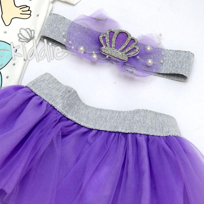 Бебешки комплект Малката Русалка Bupper за момиче