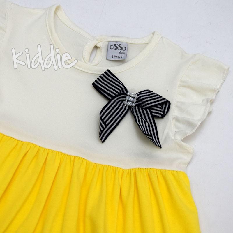 Детска рокля Osso с панделка