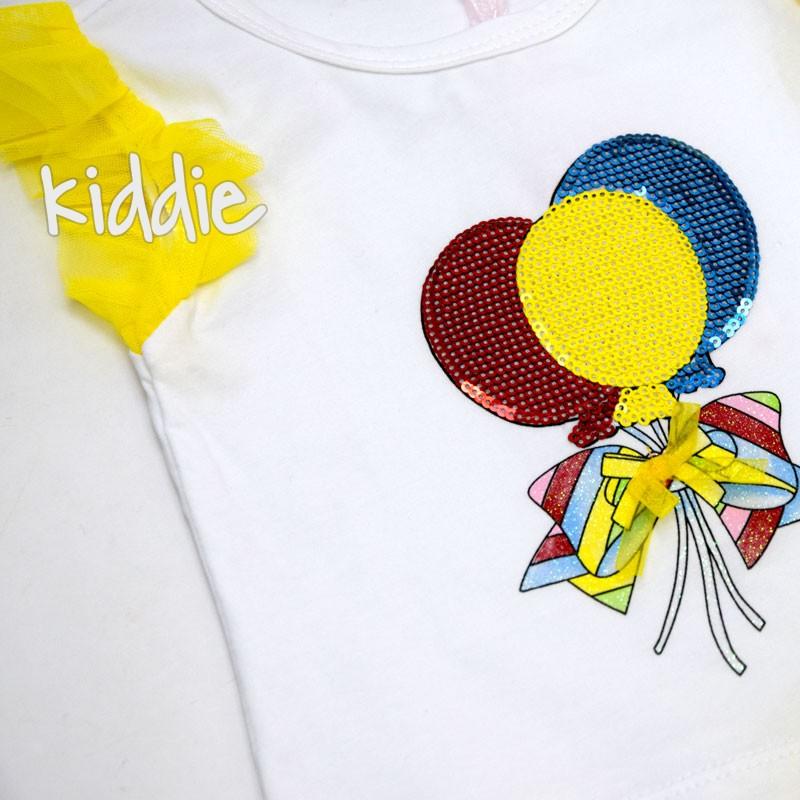 Бебешки комплект Празнични балони Repanda за момиче