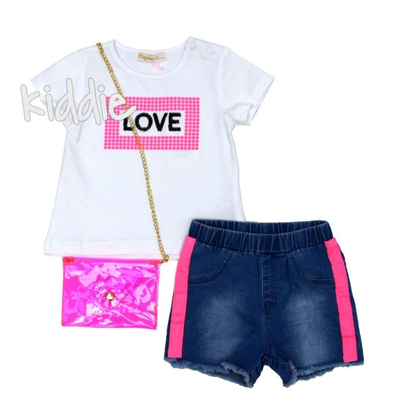 Детски комплект Love Repanda за момиче с чанта