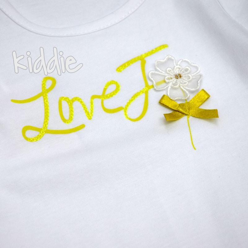 Бебешки комплект Love You Lollitop за момиче
