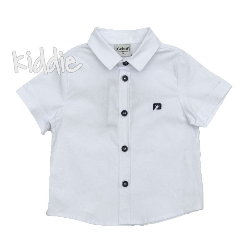 Бебешка риза Contrast за момче