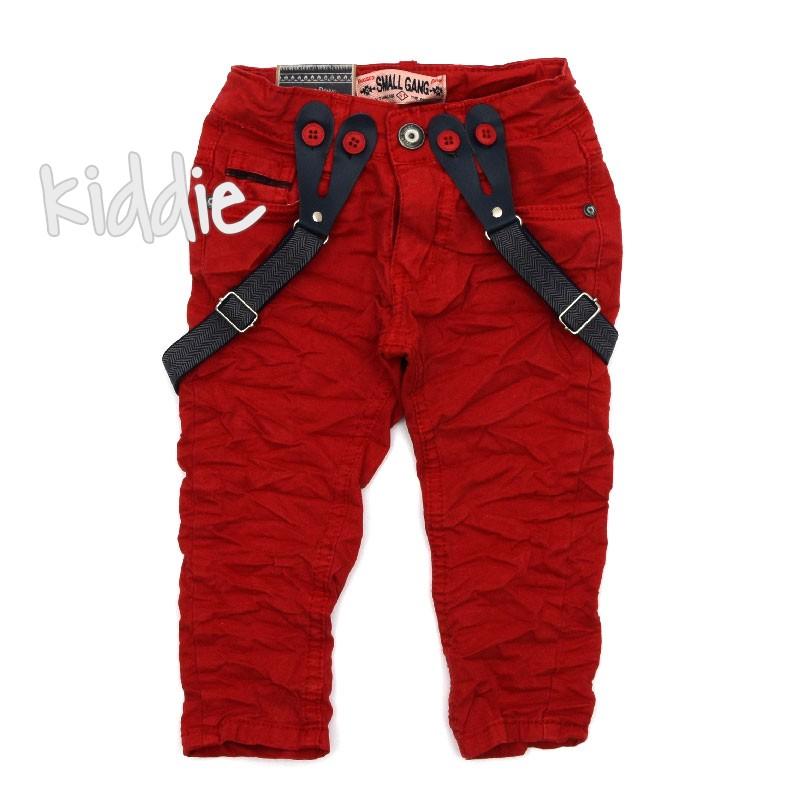 8242da3bfce Бебешки цветни дънки за момче с тиранти Small Gang