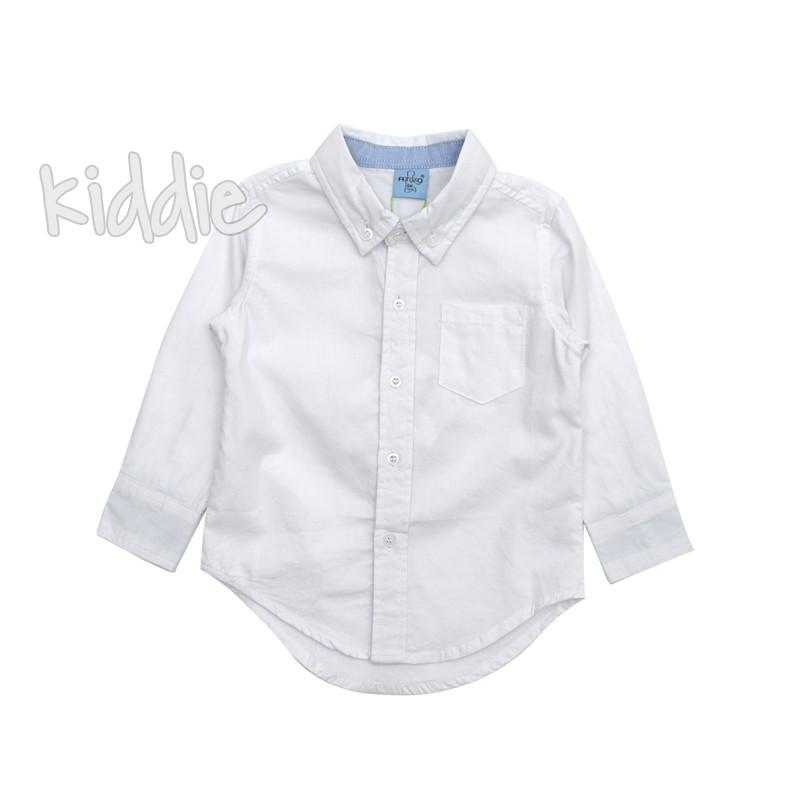 Бебешка риза за момче с копчета на яката Ativo