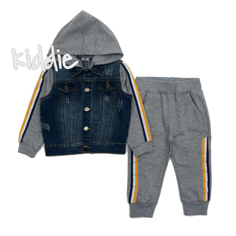 Бебешки комплект Ativo с дънково яке за момче