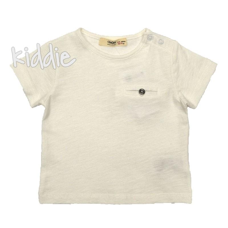 Бебешка изчистена тениска Cikoby за момче
