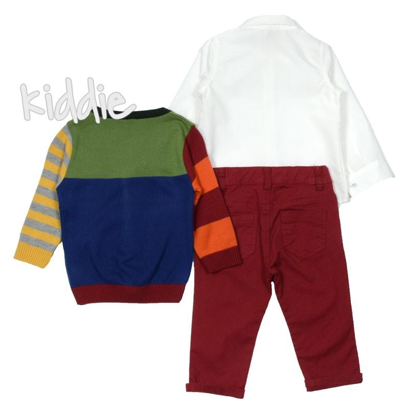 Бебешки комплект Bebus за момче с жилетка