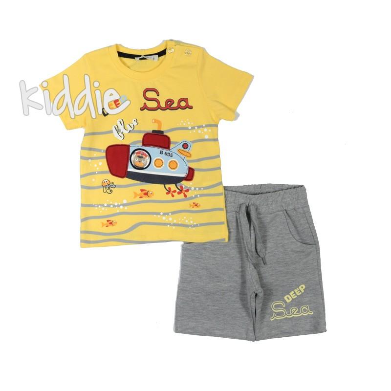 Бебешки комплект за момче Deep sea Breeze