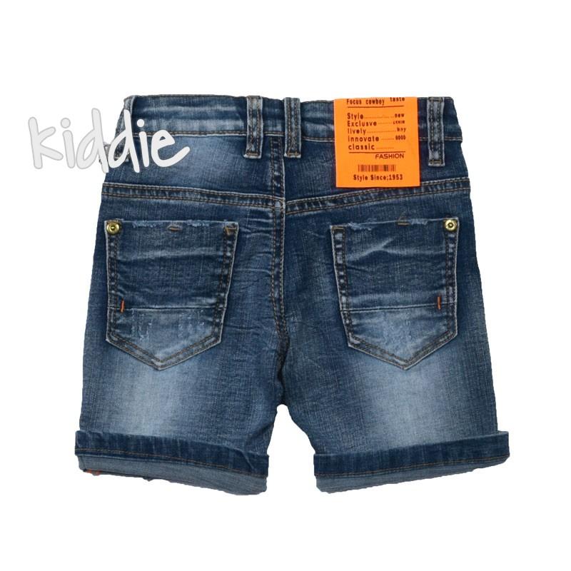 Къси дънкови панталони за момче Holly week