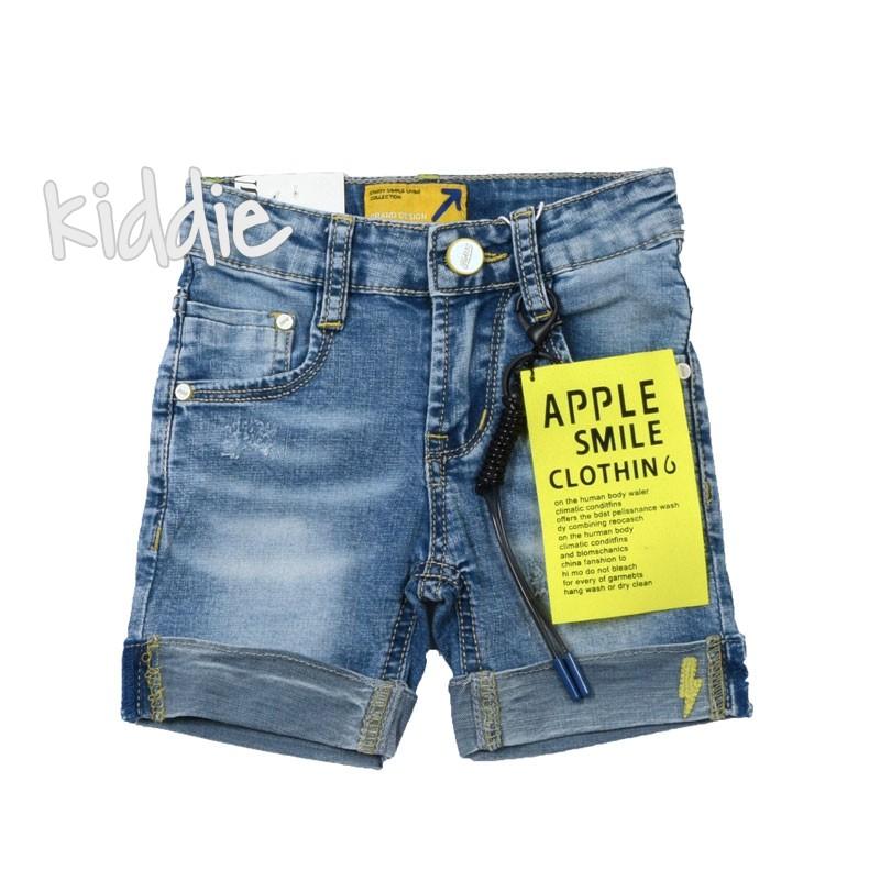 Бебешки къси дънкови панталони за момче Alta linea