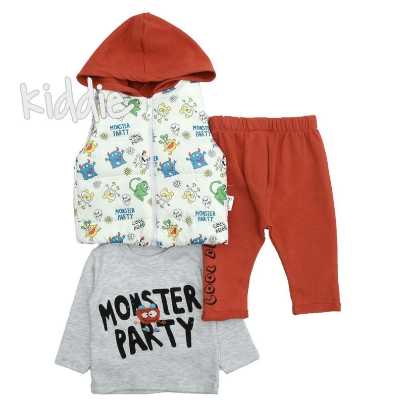 Бебешки комплект Monster Party Hippil Baby за момче