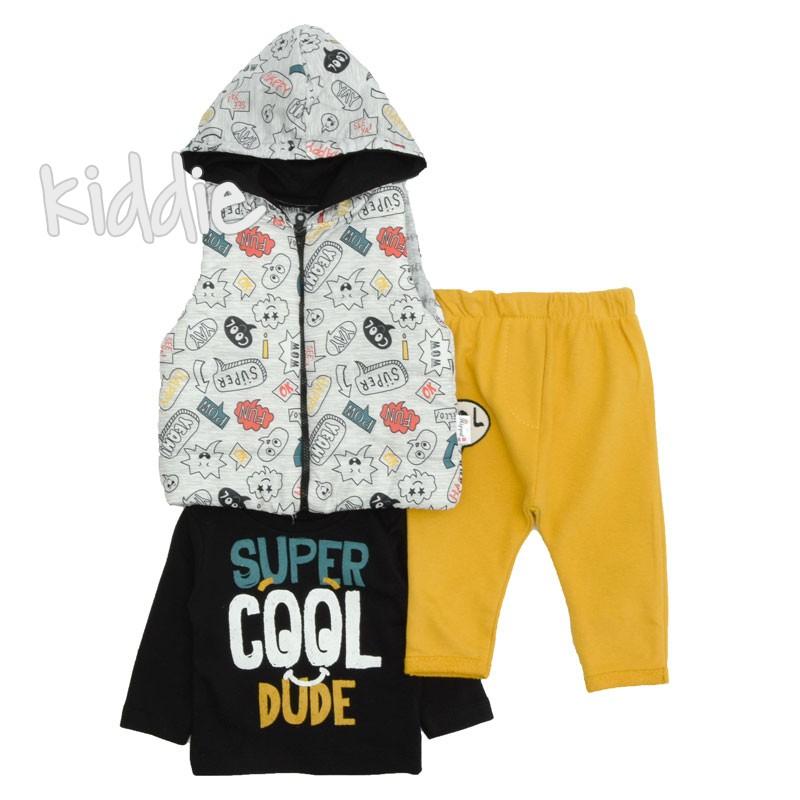 Бебешки комплект Super cool dude Hippil Baby за момче