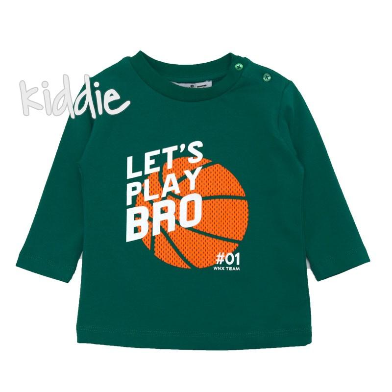 Бебешка блуза Lets Play Bro Wanex за момче