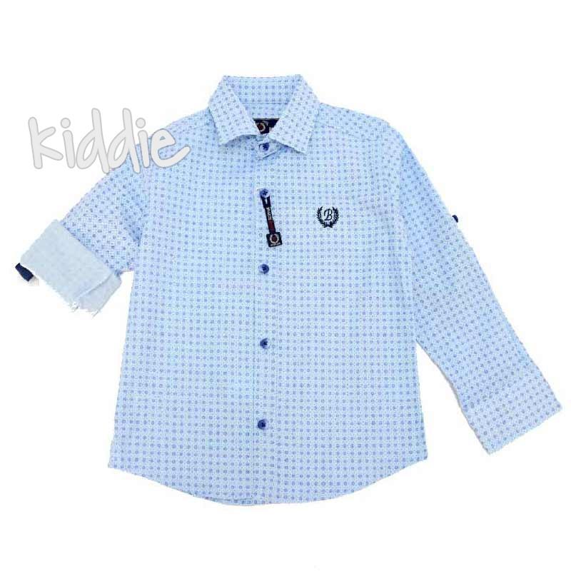 Детска риза за момче Breeze с регулиращ се ръкав