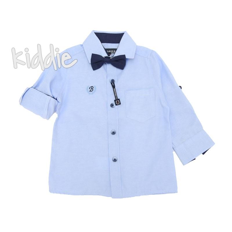 Детска риза с дълъг ръкав и папионка Breeze за момче