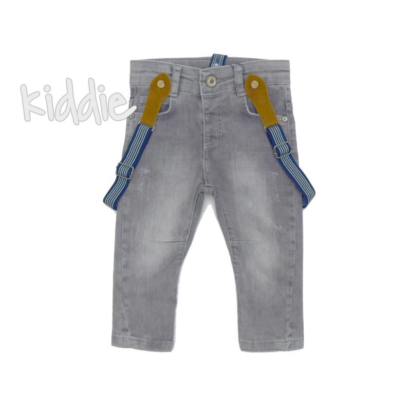 Бебешки дънки за момче с тиранти Cikoby