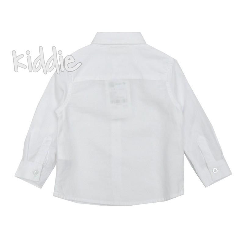 Бебешка бяла риза за момче Cikoby