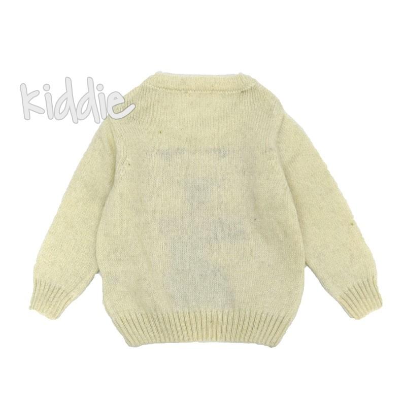 Бебешки пуловер Cikoby Мече с шал за момче