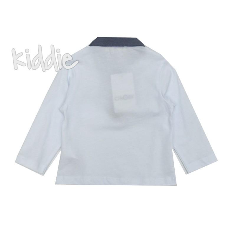 Бебешка блуза с яка за момче с джоб Cikoby
