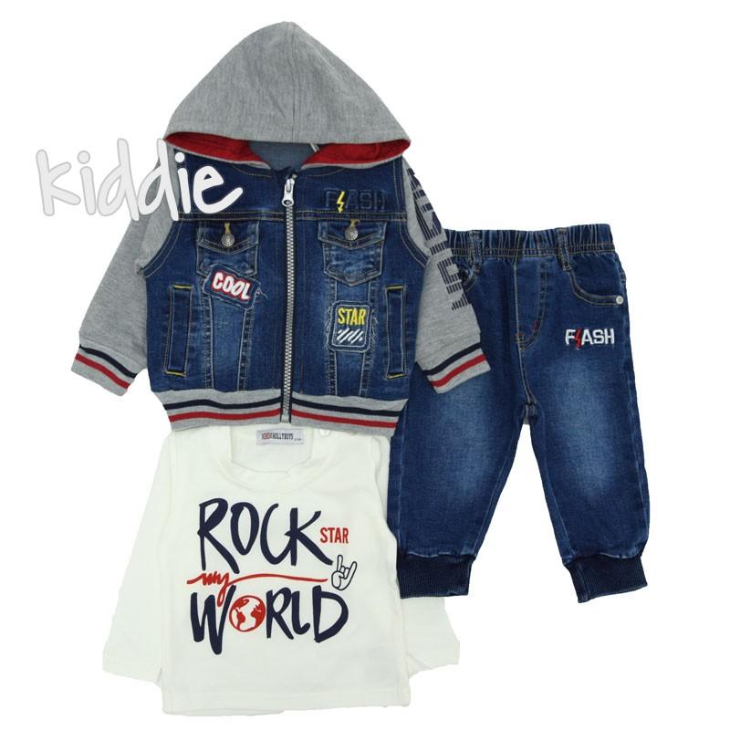 Бебешки комплект за момче Rock Star, Holly boys