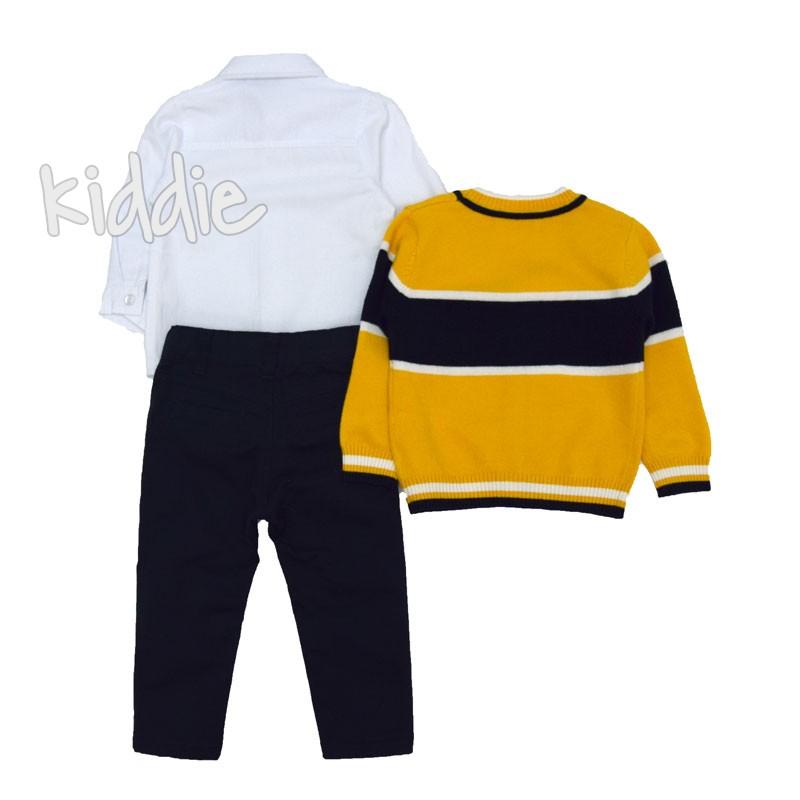 Бебешки комплект Repanda с жълта жилетка за момче