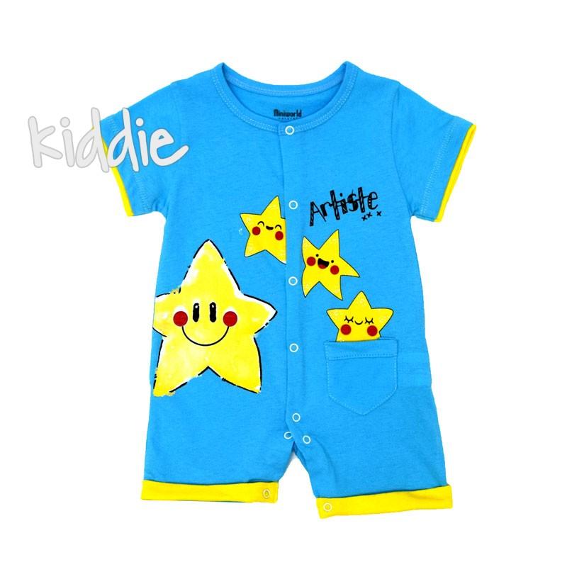 Бебешки гащеризон Miniworld Звезди за момче