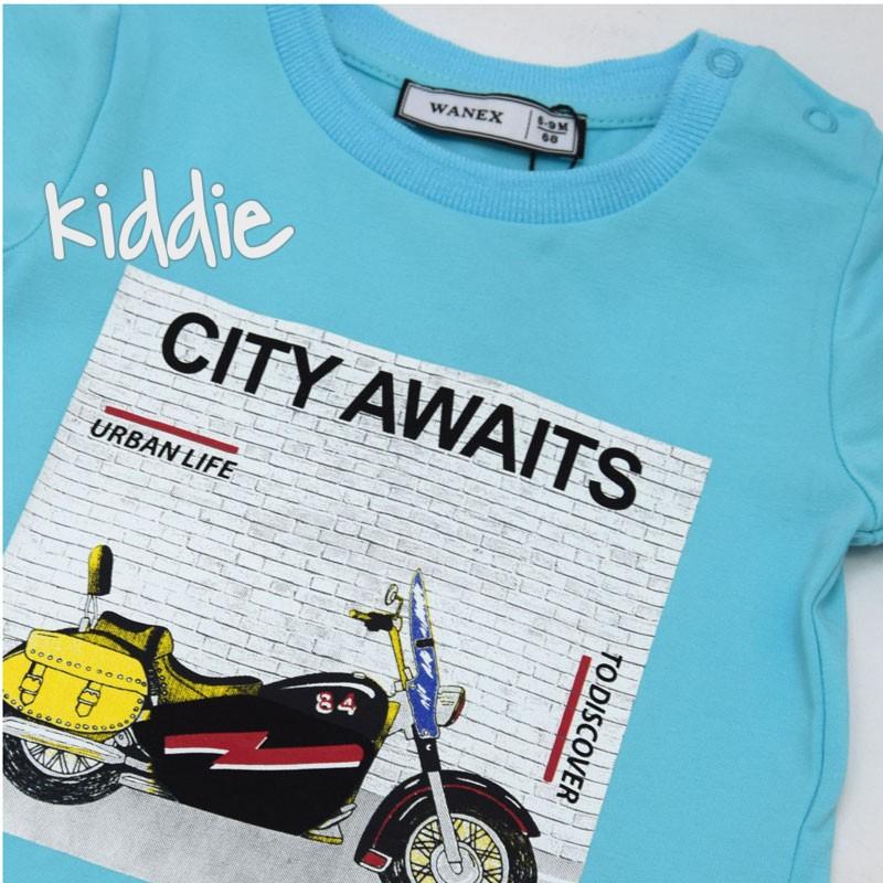 Бебешка тениска Wanex City Awaits за момче