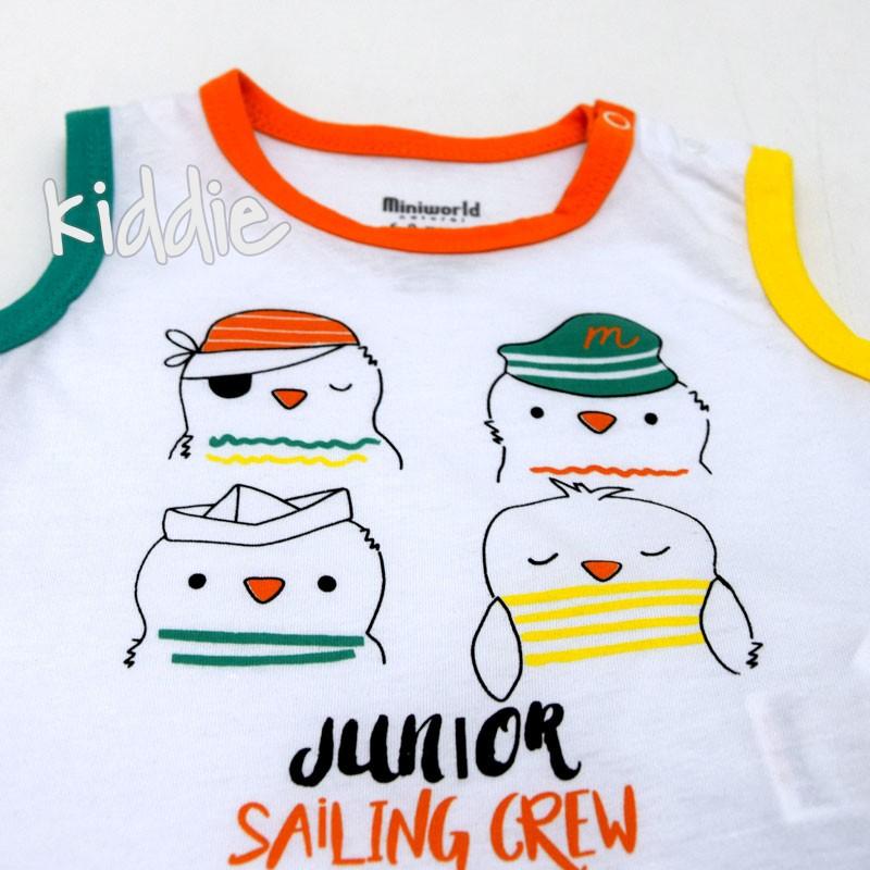 Бебешки комплект Miniworld Junior за момче
