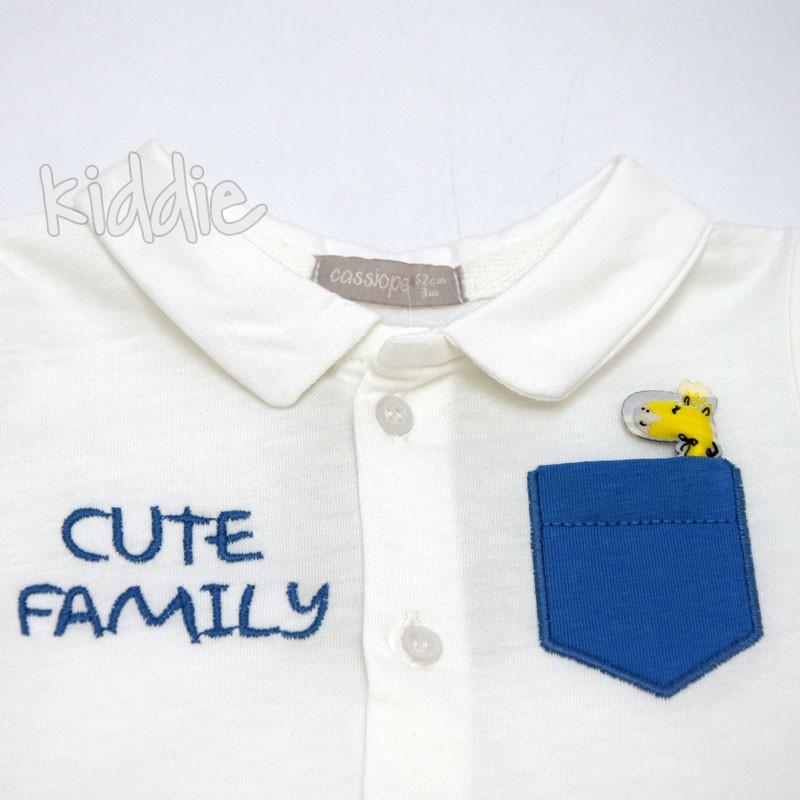 Бебешки гащеризон Cute Family Cassiope за момче